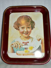 "1975 Normal Rockwell Red Head ""The Butter Girl� First Edition Collector's Tray N"