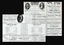 1913 Yiddish Theatre Pavilion London David Kessler Original Leaflet judaica