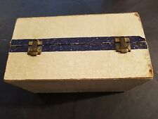 """Cass Toys Doll Trunk/Case 19.5"""" Made In Athol Mass Northern Pacific Rr Sticker"""