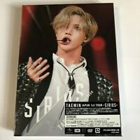 TAEMIN Japan 1st Tour SIRIUS First Limited Edition 3DVD NEW Free Shipping SHINee