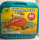 Crayola Ultimate Art Kit. 80 Pieces 2 in 1 Lap Desk & Carry Case Great for Trave