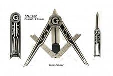 Masonic Folding Pocket Knife, Unique Square/Compass Shaped Freemason