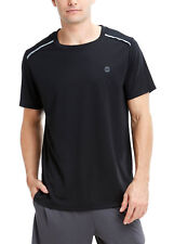 New Mens Balance Collection Performance Reflective Piping Black Workout Tee M