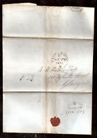 GB QV 1851 Postage Paid cover to Glasgow WS8292