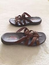 Skechers Women's Brown Outdoor Lifestyle Strappy Slip On Sandals Size 8