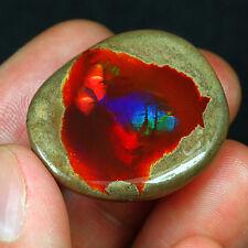 55.3CT Natural Polished Ethiopian Black Chocolate Opal Rough Specimen YQO1274