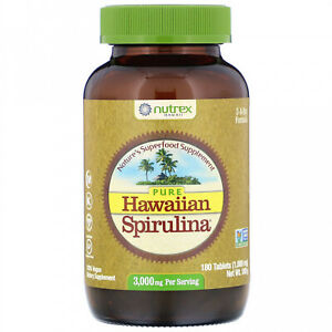 Nutrex Hawaii, Pure Hawaiian Spirulina, 3,000 Mg, 180 Tablets