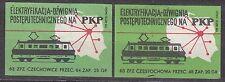 POLAND 1963 Matchbox Label - Cat.Z#434 Electrification, a lever of technical PKP