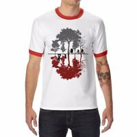 New Men's Funny Looking for the Upside Down T-Shirt Cotton Short Sleeve Tops Tee