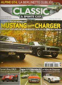 CLASSIC & SPORTS CAR 19 S2 FORD MUSTANG 390 GT DODGE CHARGER 440 R/T DINO 196 S