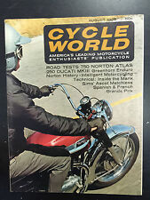 1965 Cycle World August Back Issue Magazine