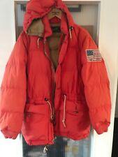Polo Ralph Lauren Orange Down Filled Puffer Jacket Size M