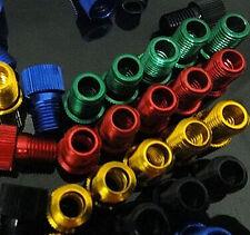 Lot 5pcs Presta to Schrader Pump Bicycle Colored Valve Adapter Convert Repair