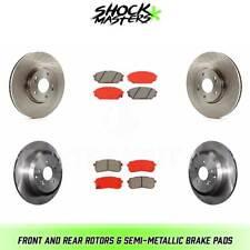 Front Disc Brake Rotors and Brake Pad Set Semi Met For Hyundai Veracruz 07-08