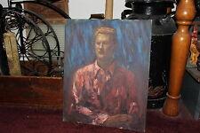 Vintage Rubinfeld Oil Painting-Portrait Handsome Young Man-Dress Shirt-Detailed