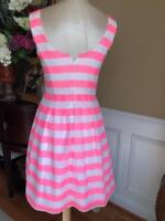 LILLY PULITZER Women's POSEY PINK WHITE STRIPE DRESS SIZE 6 (r100