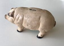 cast iron pig bank vintage 10