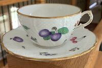 Richard Ginori PERUGIA WHITE (Vecchio Shape) Cup & Saucer Set(s)  NEAR MINT!