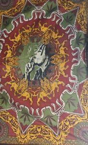 Twin Wall Hanging Rasta Bob Marley Tapestry Bohemian Home Decor Bedspread 89x55