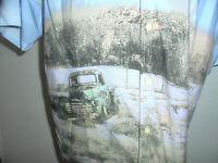 vintage Hawaii Hemd hawaiihemd crazy pattern Woody Oldtimer shirt surf Gr. XL