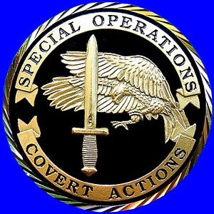 CIA SPECIAL OPERATIONS COMMANDO BLACK OPS CHALLENGE COIN INTELLIGENCE AGENCY