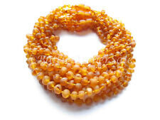 Amber Wholesale, Lot of 10 Light Cognac Color Raw Baltic Amber Baby Necklaces