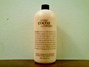Philosophy Orange Cocoa & Cream Shampoo & Shower Gel (32 oz) Brand New & Sealed