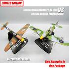 GERMAN MESSERSCHMITT BF 109G VS BRITISH HAWKER TYPHOON MKIB 1/72 model aircraft
