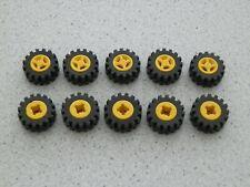 Lego 4624c02 # 10x Reifen Räder Rad 15mmD.x6mm  Felge gelb 4563 6395