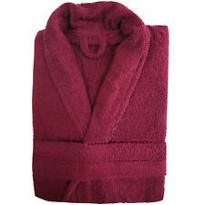 100 Cotton Ladies Bathrobe Mens Bath Robe Women Terry Towelling Dressing Gown Wine Size
