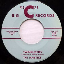 "THE MAR-TEKS 45 Twinkletoes / Merry Christmas to Michael BIG ""C"" JR785"