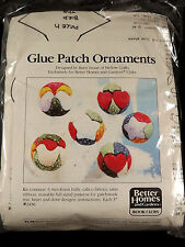 Glue Patch Ornaments No Sew Christmas Calico Fabric Patchwork Star Dove Heart
