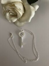925 Sterling Silber Anhänger Schlüssel, Schlüsselkette  Schmuck Zirkonia Herz