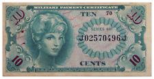 1965-1968 $0.10 U.S. Military Payment Certificates Vietnam-Era Srs 641 SKU54018