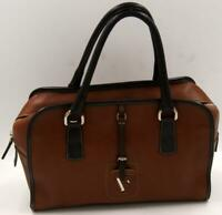 FURLA Brown Top Zip Leather Satchel Women's handbag