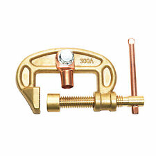 """New Brass Earth Clamp Ground Clamp 300 Amp Max Clamp Size 1.6"""" 40 mm CEC-300A"""