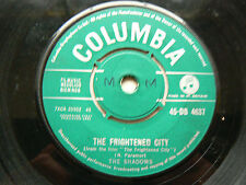 the shadows       the frightened city EX- (initials on label)