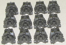 LEGO LOT OF 12 DARK GREY BIONICLE TECHNIC MASKS CONNECTOR FACE HEAD PIECES