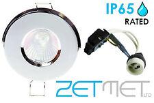 Bathroom Shower GU10 Celing Downlight IP65 Chrome X4
