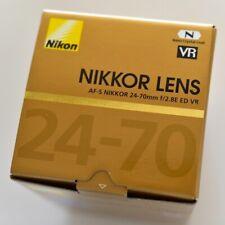 Nikon AF-S NIKKOR 24-70mm F2.8E ED VR Lens Brand New