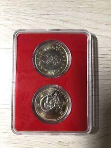 "Japan 500 Yen Paralympic Games Commemorative Coin ""Wind God"" 2 Coins Set JC#522"