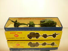 DINKY TOYS 697 MILITARY 25 POUNDER GUN SET - ARMY GREEN - GOOD CONDITION IN BOX