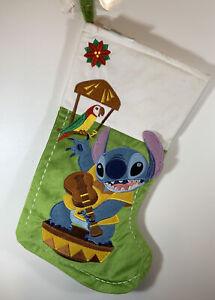 Disney Parks Enchanted Tiki Room Stitch Holiday Christmas Stocking NWT