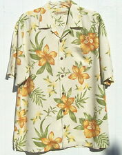 Tommy Bahama silk shirt short sleeve M Hibiscus Brocade nwt $128