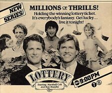 "1983 TV AD & DEBUT ARTICLE~BEN MURPHY & MARSHALL COLT in ""LOTTERY"" NEW PROMO"