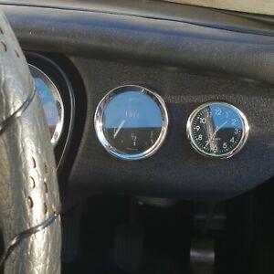 A NEW RETRO STYLE CLASSIC CAR / MGB DASHBOARD ANALOGUE CLOCK.