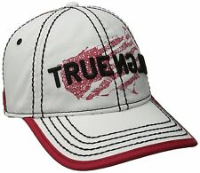 NEW TRUE RELIGION MEN'S CLASSIC PREMIUM BASEBALL TRUCKER HAT CAP WHITE TR1954