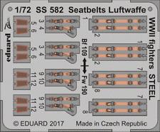 Eduard Zoom SS582 1/72 Seatbelts Luftwaffe WWII fighters STEEL