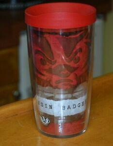 Tervis Tumbler Wisconsin Badgers On Wisconsin Red Travel Lid 24oz Nice