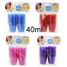 Party Shot Glass Cups Set of 120 Coloured Plastic Cup BPA Mini Cup 40ml